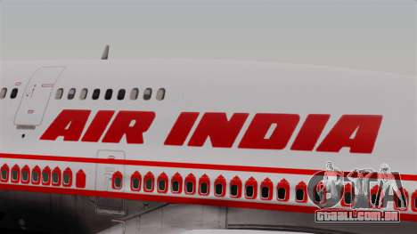 Boeing 747-400 Air India Old para GTA San Andreas vista traseira