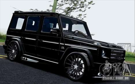 Mercedes Benz G65 Black Star Edition para GTA San Andreas esquerda vista