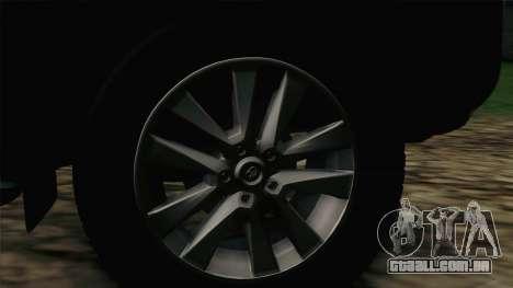 Toyota Land Cruiser 200 para GTA San Andreas traseira esquerda vista