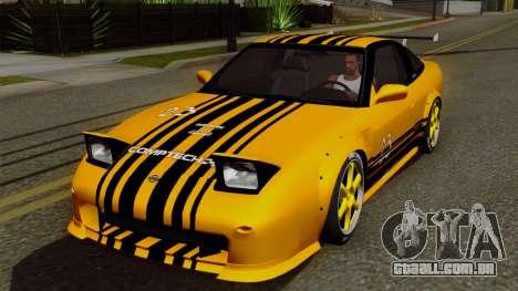 Nissan 180SX Street Golden Rims para GTA San Andreas vista superior