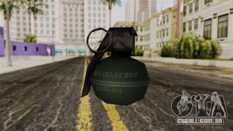 Frag Grenade from Delta Force para GTA San Andreas segunda tela