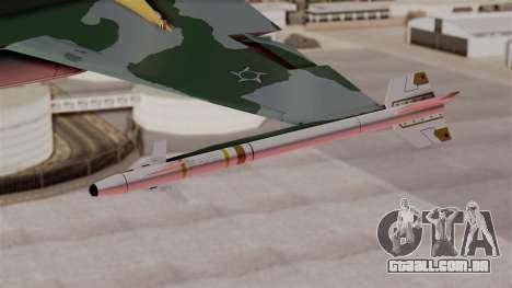 Northrop F-5E Tiger II Texture FAB para GTA San Andreas vista direita