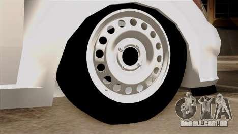 Hyundai Accent para GTA San Andreas traseira esquerda vista