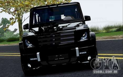 Mercedes Benz G65 Black Star Edition para GTA San Andreas vista interior