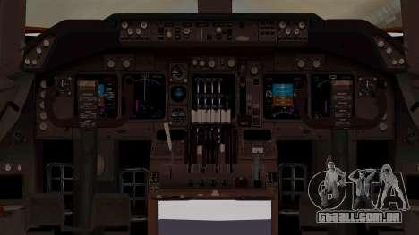 Boeing 747-200 Air India VT-ECG para GTA San Andreas vista interior