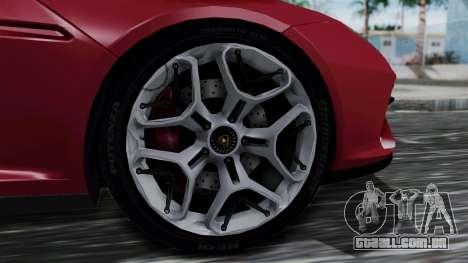 Lamborghini Asterion 2015 Concept para GTA San Andreas traseira esquerda vista