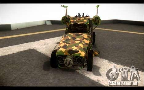 Camo Espaço De Encaixe para GTA San Andreas vista direita