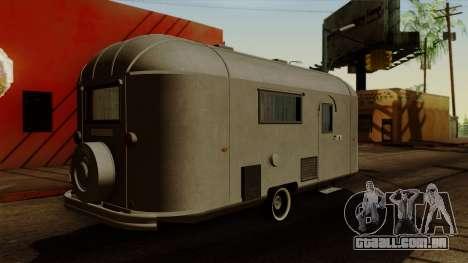 Camper Trailer 1954 para GTA San Andreas esquerda vista
