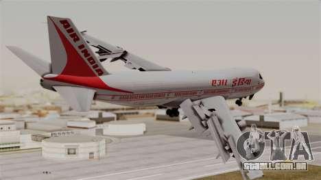 Boeing 747-200 Air India VT-ECG para GTA San Andreas esquerda vista