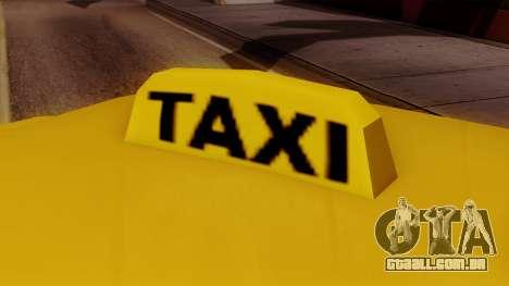 Elegant Taxi para GTA San Andreas traseira esquerda vista