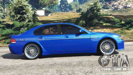 GTA 5 BMW B7 (E65) Alpina vista lateral esquerda
