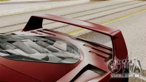Ferrari F40 1987 without Up Lights IVF para GTA San Andreas vista traseira