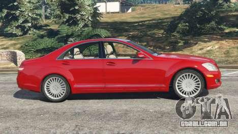 GTA 5 Mercedes-Benz S550 W221 v0.4.1 [Alpha] vista lateral esquerda