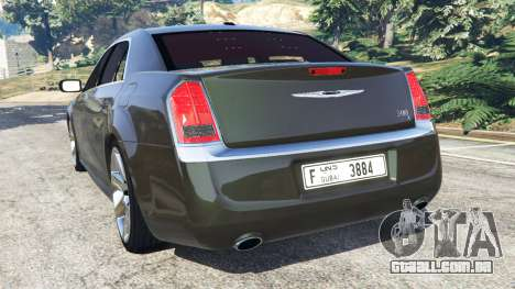 GTA 5 Chrysler 300C 2012 [Beta] traseira vista lateral esquerda