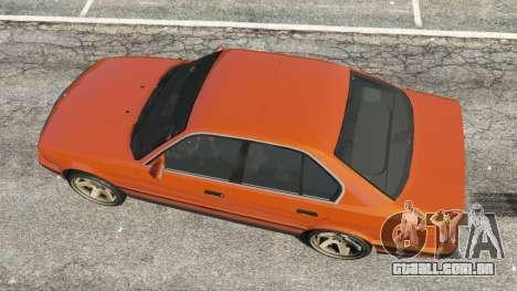 GTA 5 BMW 535i (E34) v2.0 voltar vista