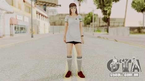 DOA 5 Hitomi Soccer para GTA San Andreas segunda tela