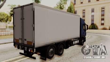 Iveco Truck from ETS 2 para GTA San Andreas esquerda vista
