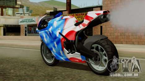 Bati America Motorcycle para GTA San Andreas esquerda vista