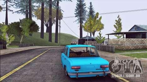 VAZ 2101 Resto para GTA San Andreas traseira esquerda vista