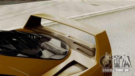 Ferrari F40 1987 HQLM para GTA San Andreas vista interior