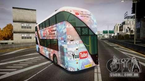 Wrightbus New Routemaster para GTA 4 traseira esquerda vista