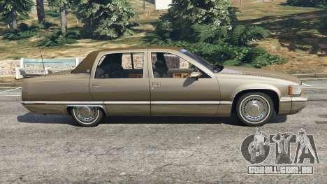 GTA 5 Cadillac Fleetwood 1993 vista lateral esquerda