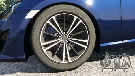GTA 5 Toyota GT-86 v1.3 traseira direita vista lateral