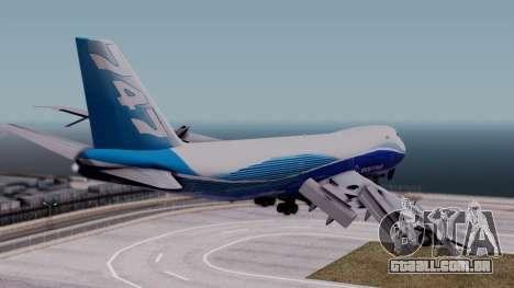 Boeing 747-400 Dreamliner Livery para GTA San Andreas esquerda vista