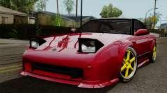 Nissan 180SX Street Golden Rims para GTA San Andreas