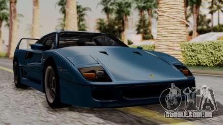Ferrari F40 1987 with Up without Bonnet HQLM para GTA San Andreas