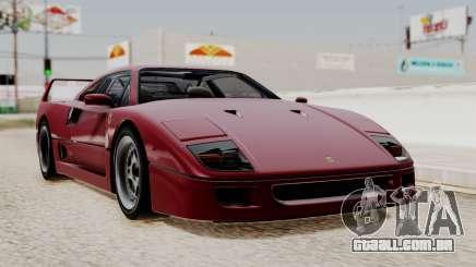 Ferrari F40 1987 without Up Lights IVF para GTA San Andreas