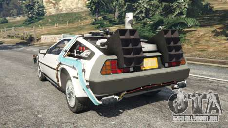 GTA 5 DeLorean DMC-12 Back To The Future v0.5 traseira vista lateral esquerda