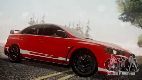 Mitsubishi Lancer Evolution X 2015 Final Edition para o motor de GTA San Andreas