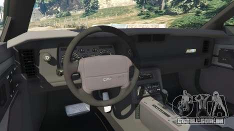 Chevrolet Camaro IROC-Z [Beta 2] para GTA 5