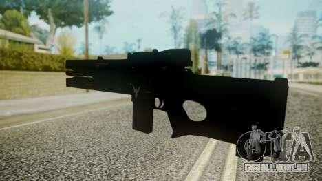 VXA-RG105 Railgun without Stripes para GTA San Andreas segunda tela