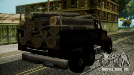 New Flatbed Hard Forest para GTA San Andreas esquerda vista