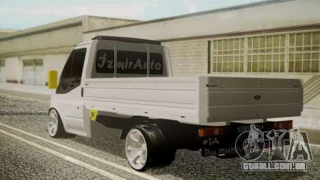 Ford Transit Hasta Ticariii para GTA San Andreas esquerda vista