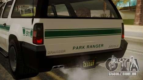 GTA 5 Declasse Granger Park Ranger IVF para GTA San Andreas vista inferior