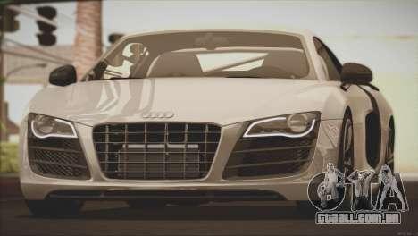 Audi R8 GT 2012 Sport Tuning V 1.0 para GTA San Andreas vista superior