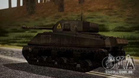 Sherman MK VC Firefly para GTA San Andreas esquerda vista