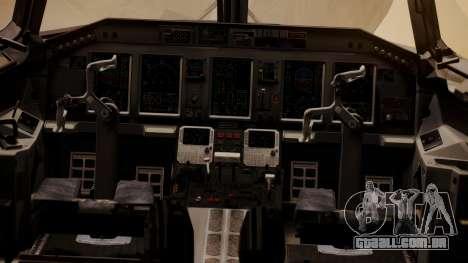 Embraer 170-100 Air Costa para GTA San Andreas vista traseira