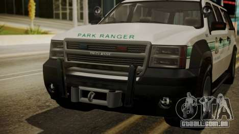 GTA 5 Declasse Granger Park Ranger IVF para GTA San Andreas vista interior
