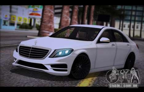 Mercedes Benz S63 W222 Itens De Qualidade para GTA San Andreas