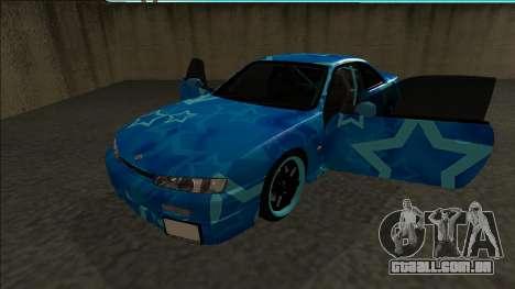Nissan Silvia S14 Drift Blue Star para GTA San Andreas vista traseira
