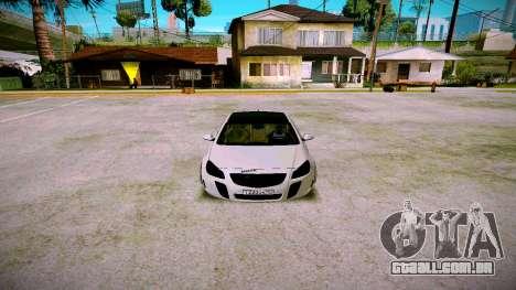 Opel Insignima SCREAM para GTA San Andreas vista traseira