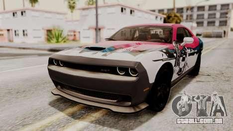 Dodge Challenger SRT Hellcat 2015 IVF PJ para GTA San Andreas interior