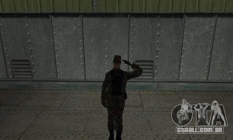 Militar saudação para GTA San Andreas segunda tela