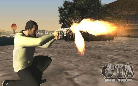 GTA 5 Tec-9 para GTA San Andreas sexta tela