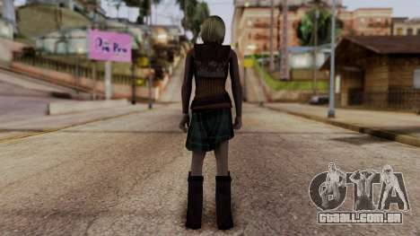 Resident Evil 4 Ultimate HD - Ashley Graham para GTA San Andreas terceira tela