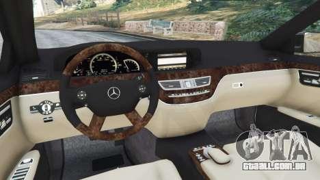 GTA 5 Mercedes-Benz S600 (W221) 2009 traseira direita vista lateral